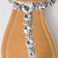 Multi Jeweled Thong Sandal - Silver from Sandals at Lucky 21 Lucky 21