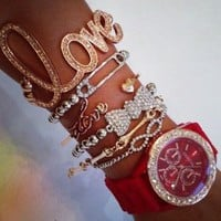 Belle La Vie Boutique — Red LOVERS Watch Set