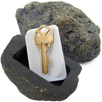 rademark Tools 72-0263 Hide-A-Key Realistic Rock Outdoor Key Holder-As Seen on TV