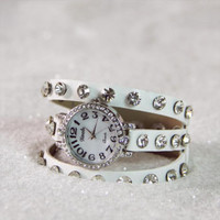 Moonstone Glittering Watch in Snow, Women's Affordable Accessories