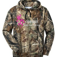 Cowboy Take Me Away Camo Hoodie Country Girl Deer Outdoor Hunt Ladies Women X-3X