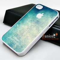 iphone 4 case iphone 4s case iphone 4 cover beautiful blue colors wall texture unique Iphone case