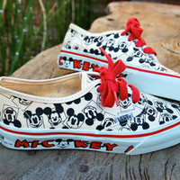 Vintage Deadstock Mickey Vans - Rare - Mickey Mouse - Disney Vans - USA Made 1991