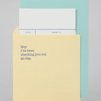 Urban Outfitters - Checking You Out Card