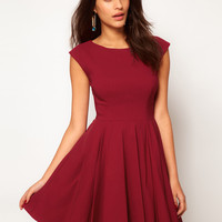 ASOS 50's Seamed Full Skater Dress