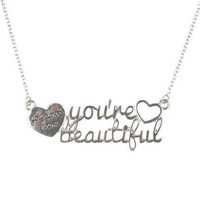 1D You&#x27;re Beautiful Necklace