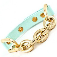 Pink Amore  Creamy Green/Blue Bracelet