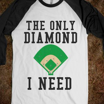 The Only Diamond I Need-Unisex White/Black T-Shirt