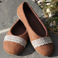 Felted slippers and shoes Handmade natural ecological by kivikis