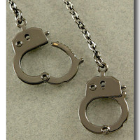 Hematite Handcuffs Necklace from p.s. I Love You More Boutique