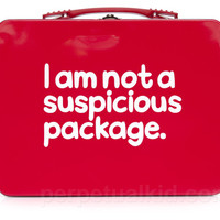 I AM NOT A SUSPICIOUS PACKAGE LUNCH BOX