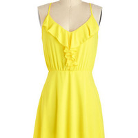 ModCloth Short Racerback A-line Pucker for Fun Dress