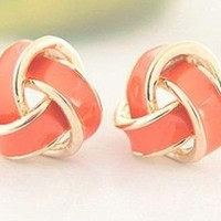 Fashion Cute Gold Orange Earrings
