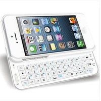 Bestgoods  Cool White Sliding Bluetooth Wireless Keyboard Case Cover For Iphone 4/4s/5