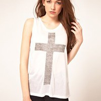 Just Female | Just Female 'Cross' T-Shirt at ASOS