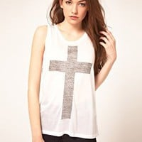 Just Female | Just Female &#x27;Cross&#x27; T-Shirt at ASOS