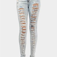 Tear It Up Skinnies - Light Blue