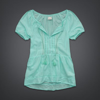 Coral Sea Top - Available in Turquoise, Navy and White