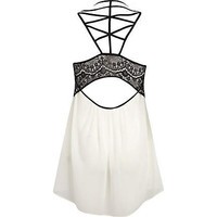 Cream strappy back cami top - sleeveless tops - tops - women