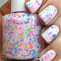 NEW Neon--Haywire:  Custom-Blended NEON Glitter Nail Polish / Lacquer