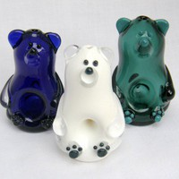 Glass Bear Pipe - Any Color!