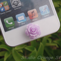 1PC Glitter Purple Rose Floral Apple iPhone by StudioOrangeStar