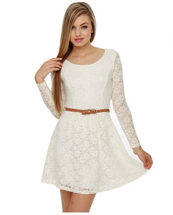 Lovely Ivory Dress
