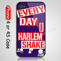 Every Day i Harlem Shake Custom iPhone 4 or 4S Case Cover
