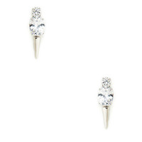 Noir Jewelry CZ Spike Earrings