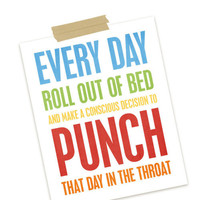 Every Day? typographic print designed by Cheryl of...