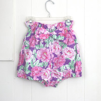 Bloomer Shorts Floral Pink Purple Cotton Summer Beach 50's Inspired xs s m l xl SALE 50% off