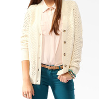 Chunky Mixed Knit Cardigan | FOREVER21 - 2025100854