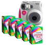 Amazon.com: Fujifilm INSTAX MINI 7S Camera and Film Kit (Pink Trim) with 5 Twin Packs of MINI INSTAX Film: Camera &amp; Photo