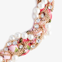 Braided Floral Necklace | FOREVER 21 - 1042411557
