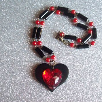 Queen of Hearts Necklace from On Secret Wings