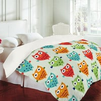 DENY Designs Home Accessories | Andi Bird Owl Fun Duvet Cover