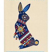 Beci Orpin Folk Rabbit Notebook