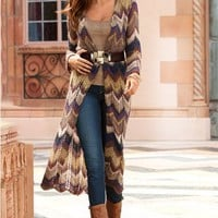 Pointelle zigzag duster - Boston Proper