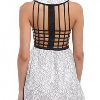 Cage Back Lace Dress