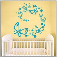 Dancing Butterflies Vinyl Wall Art Decal by 7decals on Etsy
