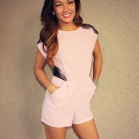 Lace Detail 'Julianne' Romper (Lavender)