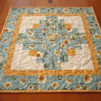 Floral Quilted Table Topper