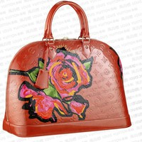 Louis Vuitton Alma MM Roses Orange Sunset M93687