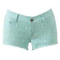 Mudd Crochet Shortie Shorts - Juniors