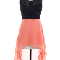 Nops &amp; Minted   coral and black dress