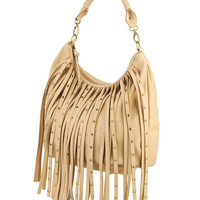Studded Fringe Hobo Bag | FOREVER21 - 1000036507