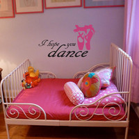 Wall Decal, Dance, Ballet, dance studio decor, girls room decor, Inspirational, Quote, Wall sticker, Vinyl Decal, By Otrengraving on Etsy