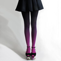 BZR Ombré tights in Fuschian Violet