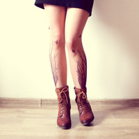 Grassy Meadow Tattoo Tights  Free Shipping  Made by kellyatlarge
