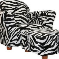 Amazon.com: Fantasy Furniture Roundy Chair with Ottoman, Zebra: Baby